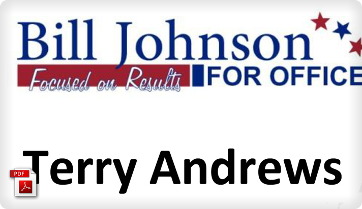 Political Campaign Event Nametag Example