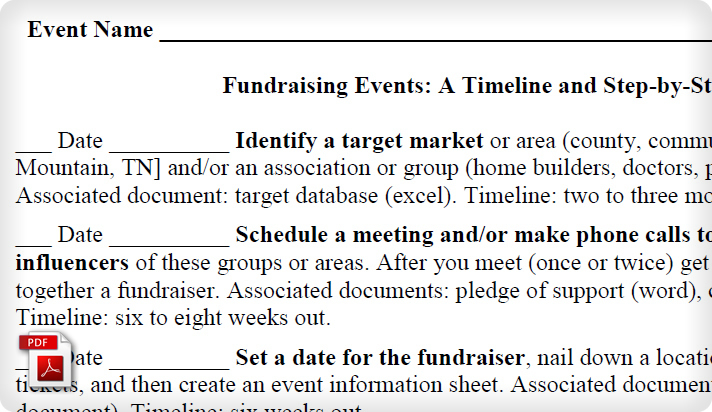 Political Campaign Fundraising Event Checklist Example