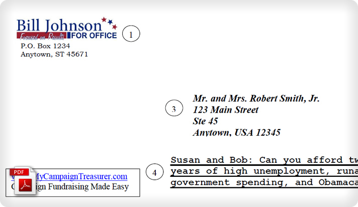 Political Campaign Fundraising Letter Outer Envelope Example